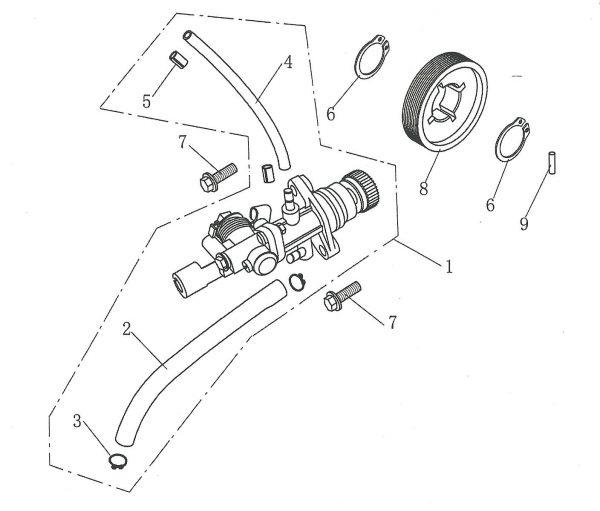 Pogon uljne pumpe 4E06-08-0