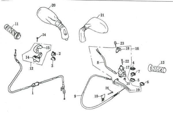 Nosač ručice kočnice lijevi 4F03-17-0