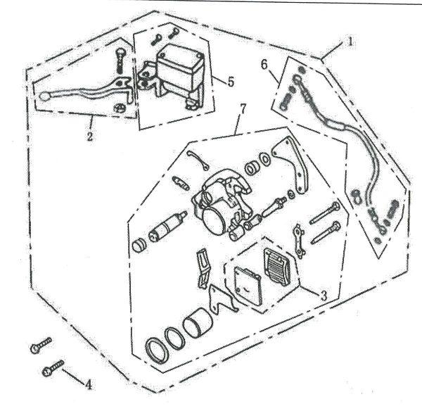 Kočioni cilindar+crijevo+čeljust 4F04-05-06-07-0