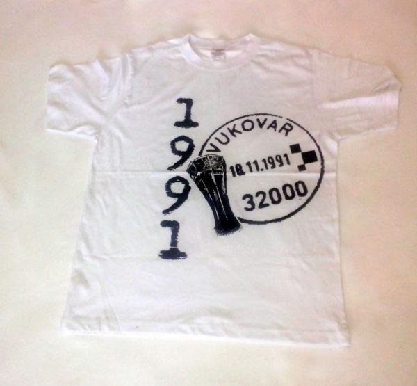 Majica sa printom Vukovara - bijela (S, M, L, XL)-0
