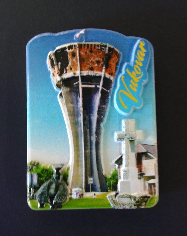 3D Magnet - slika Vukovarskog vodotornja-0