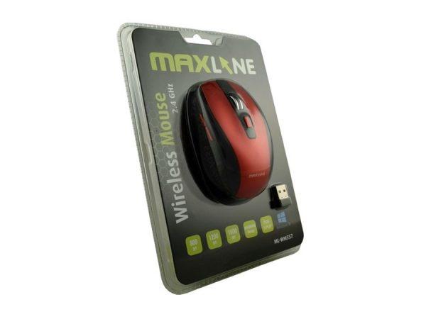 Miš MAXLINE ML-WM557, bežični, USB (crno-crveni i sivo crveni)-0