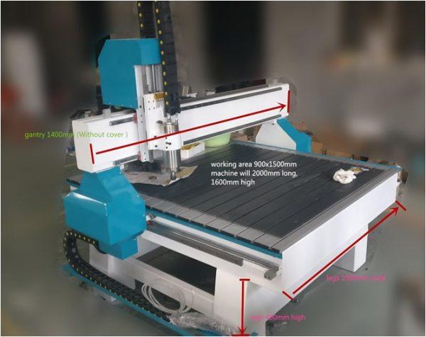 CNC ROUTER za kamen 900x1500 -0