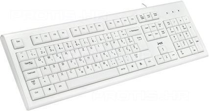 Žičana tipkovnica MS KB-ALPHA USB u crnoj i bijeloj boji-0