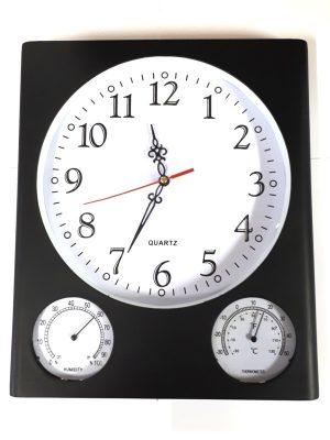 Zidni sat u crnoj boji-0