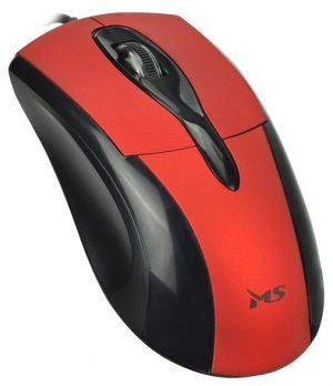Žičani optički miš MS Skipper 3 crveni-0