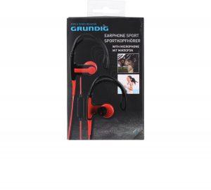 Slušalice Grundig sa mikrofonom sport crvene i sive-0