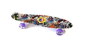 Penny Board skate M15 svijetleći kotači - šareni-crni-0