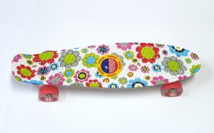 Penny Board skate M15 svijetleći kotači - šareni-cvjetni-0