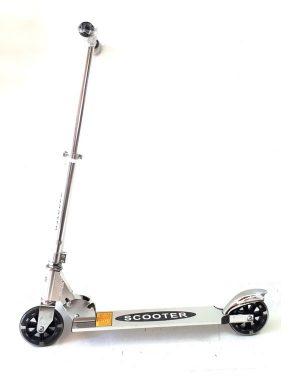Romobil D2X V049 srebrni (svijetleći kotači)-0
