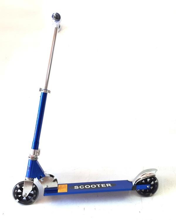 Romobil D2X V049 plavi (svijetleći kotači)-0