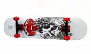 Skateboard Skull V281 bijeli-0