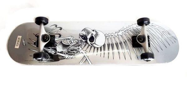 Skateboard Skull V281 srebrni-0