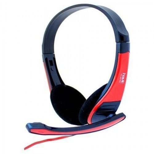 Slušalice sa mikrofonom HAVIT HV-H2105D, 3.5 mm, crno-crvene-0