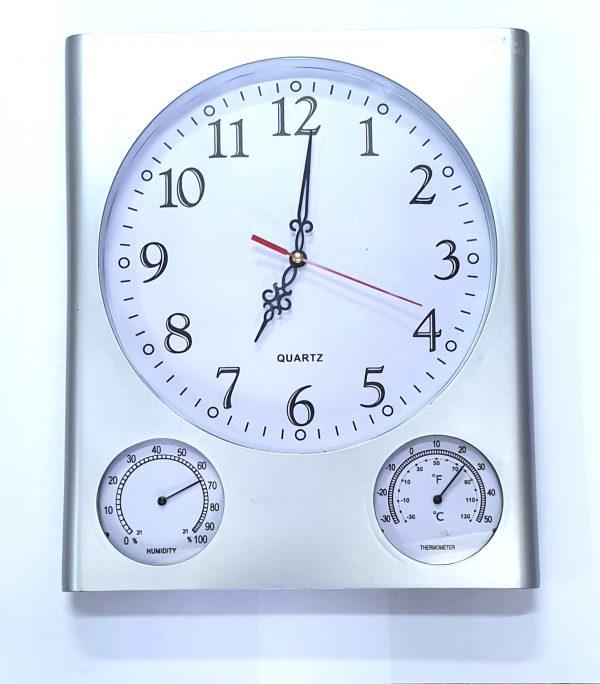 Zidni sat u sivoj boji-0