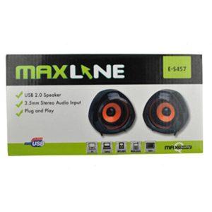 Zvučnici Maxline E-S457 USB 2.0, crni-0
